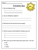 FREEBIE~ Dictionary Skills Quiz
