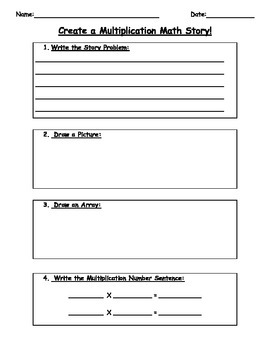 FREEBIE:  Differentiated Math Story Template!