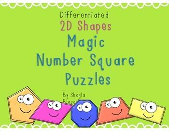 FREEBIE Differentiated 2D Shape Magic Number Square Puzzle