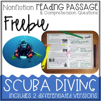 FREEBIE: Differentiated Nonfiction Reading Passage and Comprehension Questions