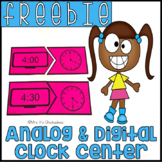 FREEBIE! Digital & Analog Clock Center: Telling Time Puzzles