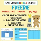 FREEBIE Digital Circle Time Activities! Early Childhood! Special Education!