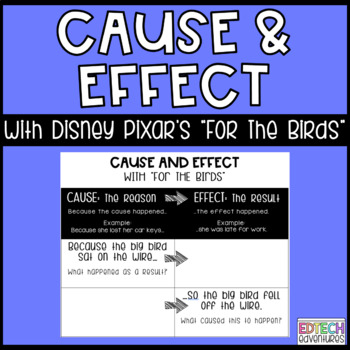 FREEBIE Digital Google Classroom - Cause and Effect with Pixar Short Films