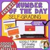 FREEBIE - Digital Number of the Day - Self Grading Google Form