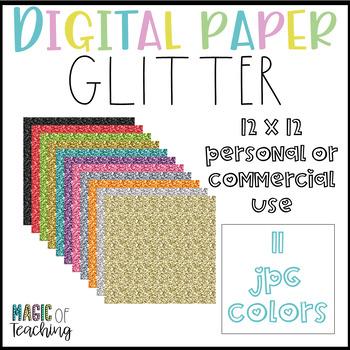 FREEBIE Digital Paper Backgrounds in Glitter: Black, Gold, and Silver