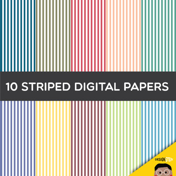 FREEBIE: Digital Striped Papers