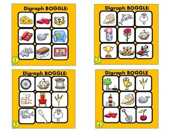 FREEBIE! Digraph Picture BOGGLE (Grades 1-3)