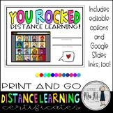 FREEBIE! Distance Learning Certificates: *EDITABLE *PRINTA