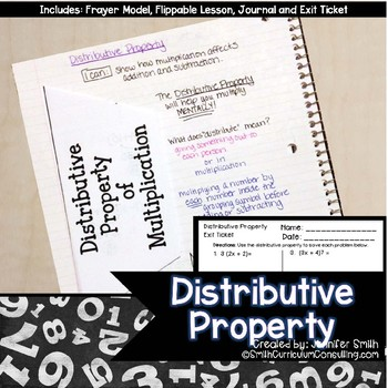 Distributive Property Lesson for Interactive Notebooks