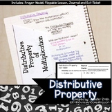 Distributive Property Lesson for Interactive Notebooks | TEKS 6.7d