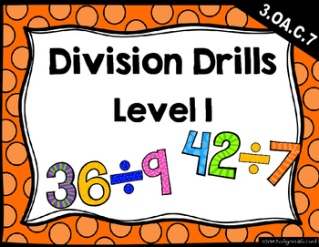 {FREEBIE} Division Drills: Level 1 (1s-12s & Mixed)