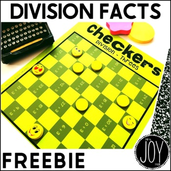FREEBIE Division Facts Checkers Sample Game DIVIDE BY THREES