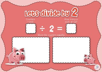 Kindergarten Division Maths Game by 2,3,4,5,6 game placemat