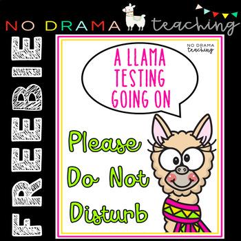 FREEBIE Do Not Disturb Testing Sign