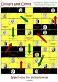 FREEBIE: Dollars and Cents (money) board game US