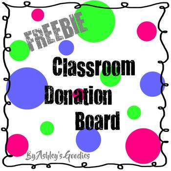 FREEBIE! Donation Board for Classrooms