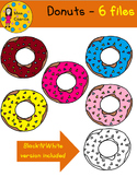 FREEBIE - Donuts Cliparts - Miss Caprice