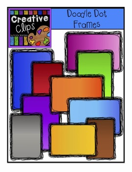 FREEBIE! Doodle Dot Frames {Creative Clips Digital Clipart}