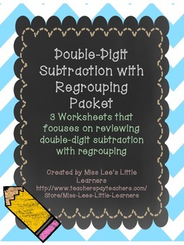 ***FREEBIE*** Double-Digit Subtraction with Regrouping