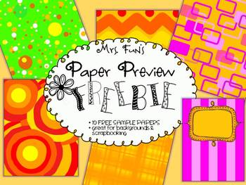 FREEBIE! Download Sample of Scrapbook Papers & Background Images