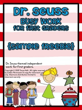 {FREEBIE} Dr. Seuss Inspired Busy Work for First Graders