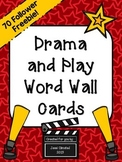 {FREEBIE} Drama and Play Word Wall Cards