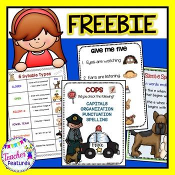 FREEBIE: ELA & Classroom Management Posters