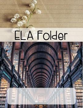 FREEBIE- ELA/Reading Journal Cover
