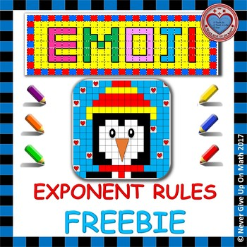 FREEBIE EMOJI - Exponent Rules (1st Introduction - Definitions)