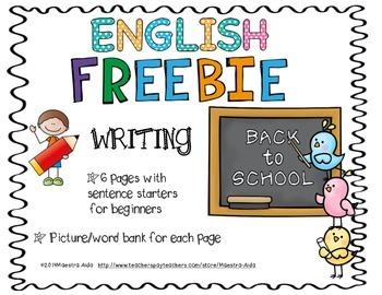 FREEBIE ** ENGLISH Daily Writing