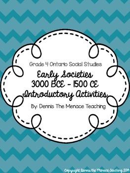 FREEBIE- Early Societies Introductory Activities (Grade 4 Ontario Curriculum)