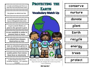 Earth Day ABC Order & Vocabulary Matching Activity FREEBIE