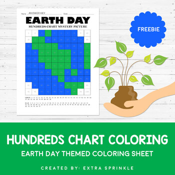 FREEBIE Earth Day Hundreds Chart Coloring Page