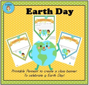 FREEBIE Earth Day Pennant Banner Worksheet