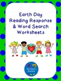 Earth Day Reading Response Worksheet & Word Search