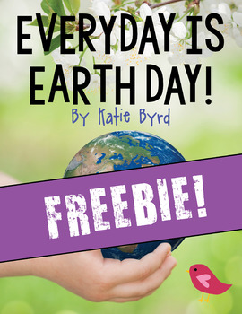 FREEBIE! - Earth Day promise writing and craftivity