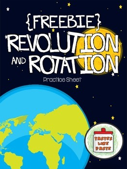 {FREEBIE} Earth's Revolution and Rotation Practice Sheet