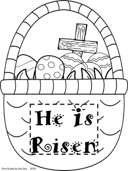 Freebie Easter Basket Coloring Pages By Pauline Pretz Tpt