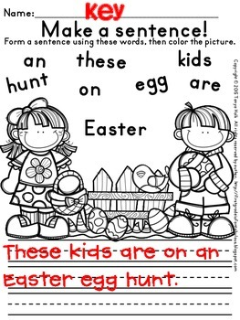{FREEBIE} Easter Busy Work for First Graders