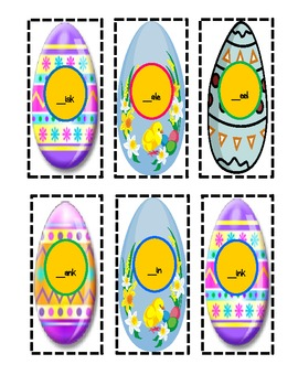 FREEBIE!  Easter Egg Digraphs Center