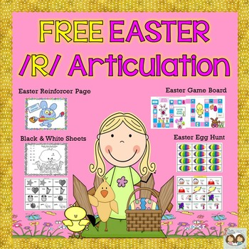 FREEBIE! Easter Egg Hunt Articulation - /R/ Sound Game & Activity