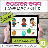 FREE Easter Egg Language Activity BOOM CARD™ Deck - Distan