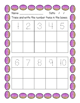 FREEBIE!!!   Easter Egg Number ID Activities and Assessment