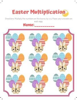 FREEBIE! Easter Multiplication Printable! (1-9)