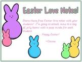 FREEBIE~ Easter Peep Love Notes!
