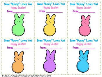 FREEBIE~ Easter Peep Love Notes!