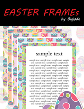 FREEBIE Easter frames Clipart