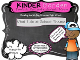 Kinder Garden: BUNDLED Differentiated - What I do at School Easy Readers