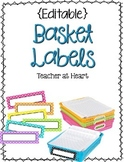 FREEBIE - {Editable} Basket Labels!