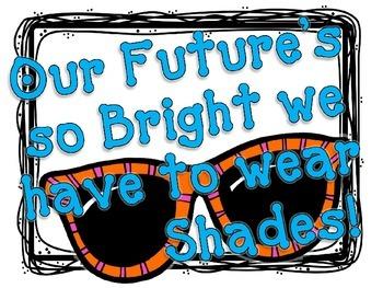 FREEBIE Editable Bulletin Board Set {My Future's So Bright}